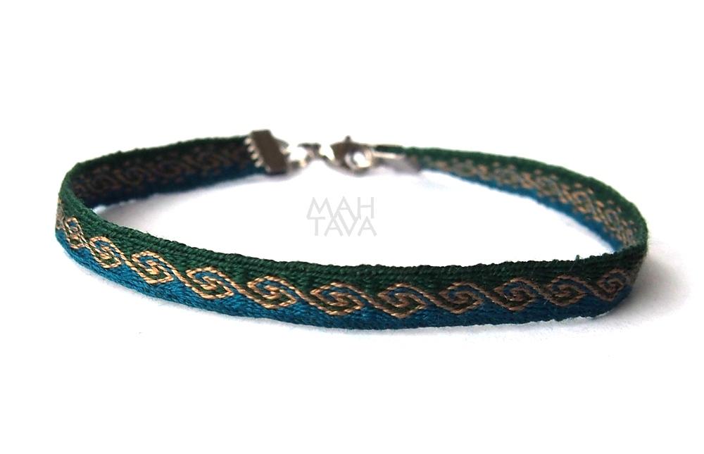 silk handwoven bracelet